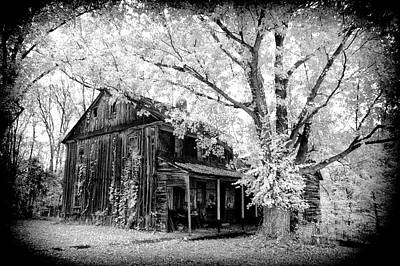 Photograph - Old Black And White Infrared Farm House by Paul W Faust - Impressions of Light