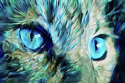 Digital Art - Old Blue Eyes Is Back by Peggy Collins