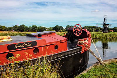 Photograph - Old Boat In The Countryside Of Holland by Debra and Dave Vanderlaan