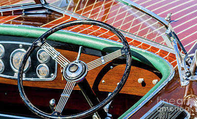 Photograph - Old Boat Steering Wheel by Randy J Heath