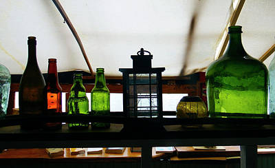 Photograph - Old Bottle Collection, Chile by Kurt Van Wagner