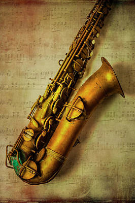 Photograph - Old Brass Sax by Garry Gay
