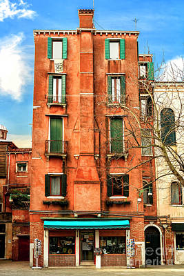 Photograph - Old Building At Ghetto Vecchio In Venice by John Rizzuto