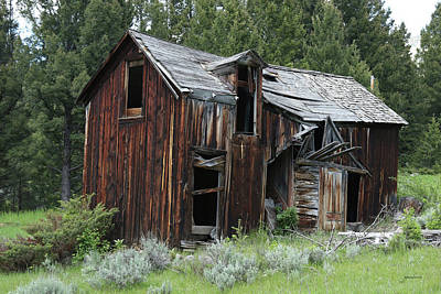 Photograph - Old Cabin - Elkhorn, Mt by Gary Gunderson