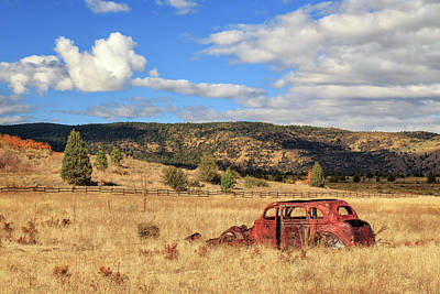Photograph - Old Car At The Ranch by James Eddy