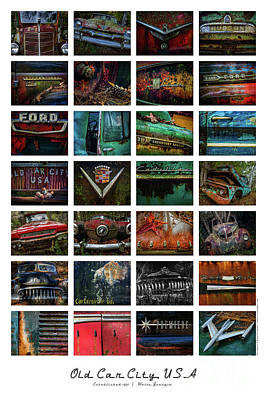 Photograph - Old Car City Usa Collage by Doug Sturgess