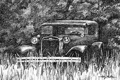 Photograph - Old Car Threshold 1 by Harry Moulton