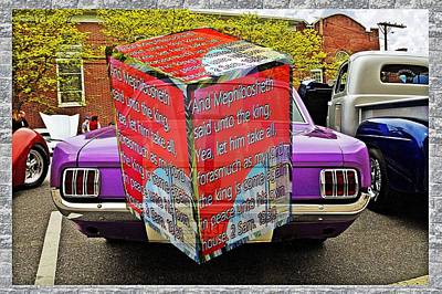 Vintage Chevrolet - Old car with a 3D text box by Karl Rose