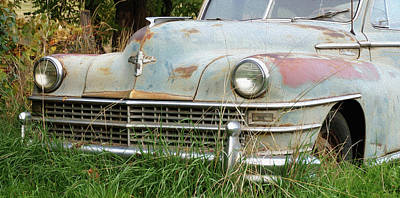 Photograph - Old Chrysler by Ron Roberts