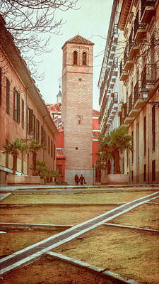 Wall Art - Photograph - Old Church In Madrid Spain by Joan Carroll