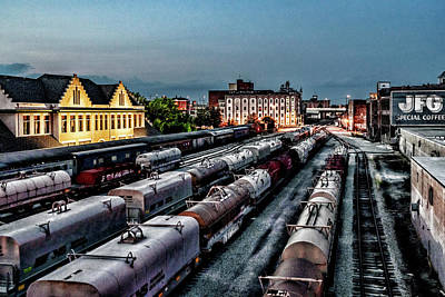 Photograph - Old City Rail Yard by Sharon Popek