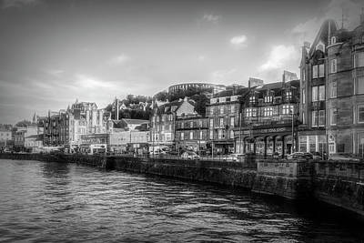 Photograph - Old Downtown Oban Scotland In Black And White by Debra and Dave Vanderlaan