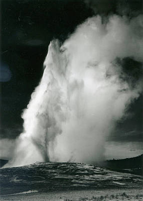 Photograph - Old Faithful Geyser, Yellowstone by Archive Photos