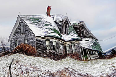 Painting - Old Farm House Twisted by Sue Harper