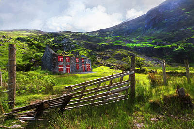 Photograph - Old Farm In The Irish Countryside Oil Painting by Debra and Dave Vanderlaan