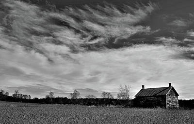 Photograph - Old Farmhouse, Clouds And Horizon by Jeremy Hall