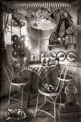Photograph - Old Fashioned Country Candy And Ice Cream Parlor In Sepia by Debra and Dave Vanderlaan