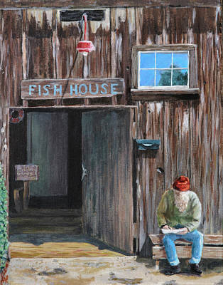 Painting - Old Fish House Afternoon by Deborah Smith