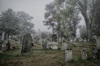 Photograph - Old Foggy Cemetery by Crystal Wightman