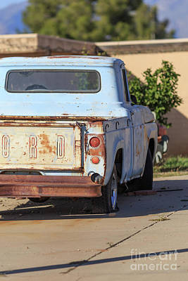 Photograph - Old Ford Pickup Truck Tucson Arizona by Edward Fielding