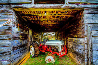 Photograph - Old Ford Waiting In The Barn  by Debra and Dave Vanderlaan