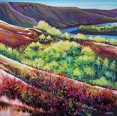 Painting - Old Fort Hills by Alison Newth