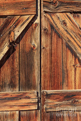 Photograph - Old Ghost Town Doors by Edward Fielding