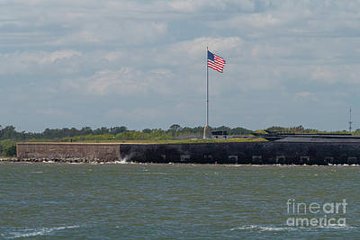 1920s Flapper Girl - Old Glory over Fort Sumter in Charleston Harbor by Dale Powell