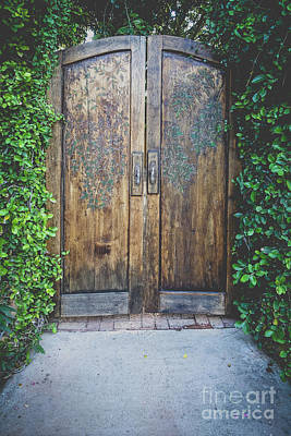 Photograph - Old Handcarved Wooden Doors by Edward Fielding