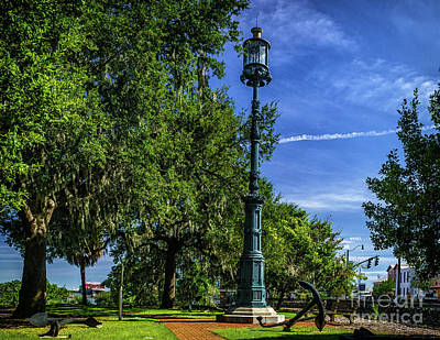 Palm Trees Rights Managed Images - Old Harbor Light Royalty-Free Image by Nick Zelinsky Jr