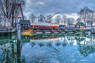 Photograph - Old Harbour Shipyard by Frans Blok