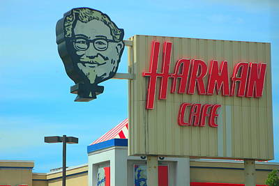Photograph - Old Harman Cafe Sign by Colleen Cornelius