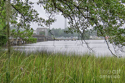 Photograph - Old Highway 41 Swing Bridge - Mount Pleasant South Carolina by Dale Powell