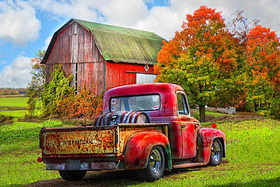 Photograph - Old International Pickup Truck by Debra and Dave Vanderlaan
