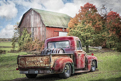 Photograph - Old International Pickup Truck In Soft Textures by Debra and Dave Vanderlaan