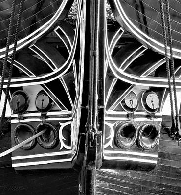Photograph - Old Ironsides Forcastle B W  by Rob Hans