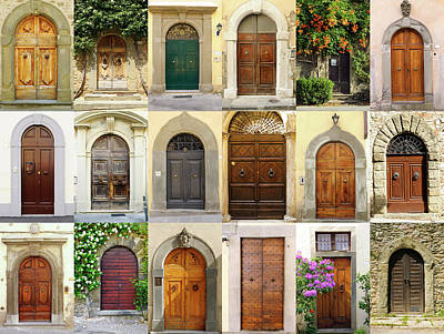 Photograph - Old Italian Doors Collection,chianti by Lisa-blue