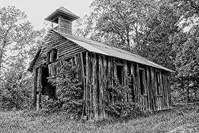 Photograph - Old Jaybird Church by Wesley Nesbitt