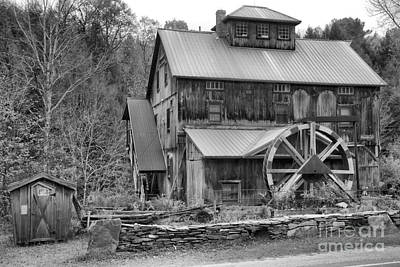 Photograph - Old Jeffersonville Mill Black And White by Adam Jewell
