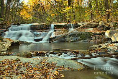 Photograph - Old Jelly Mill Falls by Adam Jewell