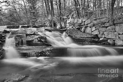 Photograph - Old Jelly Mill Falls Vermont Black And White by Adam Jewell