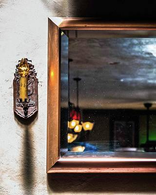 Photograph - Old Kings Pub Reflection by Brett Nelson