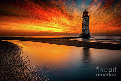 Photograph - Old Lighthouse Sunset  by Adrian Evans