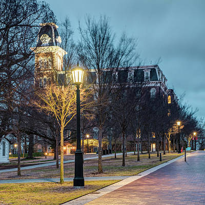 Photograph - Old Main At Dusk - University Of Arkansas by Gregory Ballos