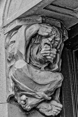 Photograph - Old Man Gothic Gargoyle by Garry Gay