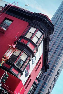 Photograph - Old Meets New In Chinatown by Peter Thoeny