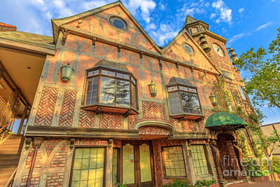 Photograph - Old Mill Clock Tower Solvang by Benny Marty