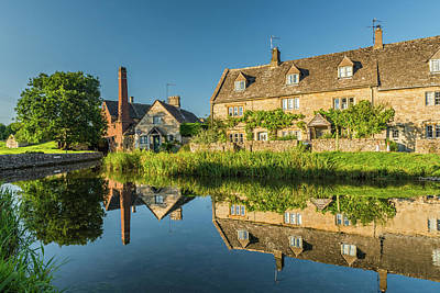 Old Mill, Lower Slaughter, Gloucestershire Art Print by David Ross