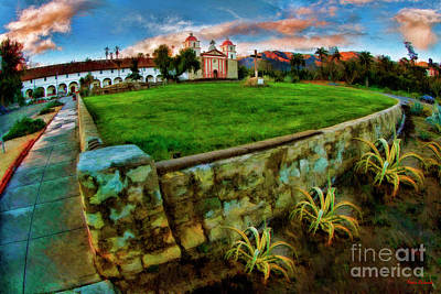 Photograph - Old Mission Santa Barbara by Blake Richards