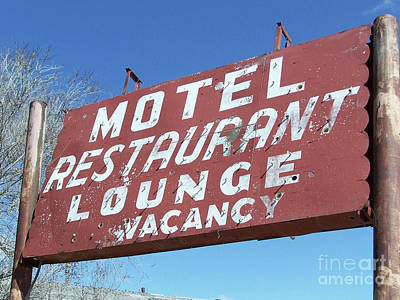 Photograph - Old Motel Neon by Tony Baca